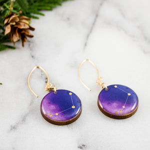 Aries Handpainted Constellation Earrings