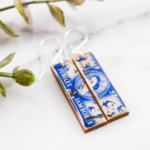 GREAT BRITAIN- Vintage Silver Jubilee Postage Stamp Earrings