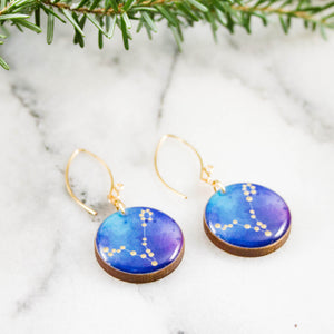 Pisces Handpainted Constellation Earrings