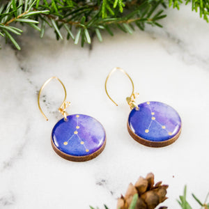 Cancer Handpainted Constellation Earrings