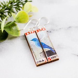 IDAHO- Vintage Postage Stamp Earrings