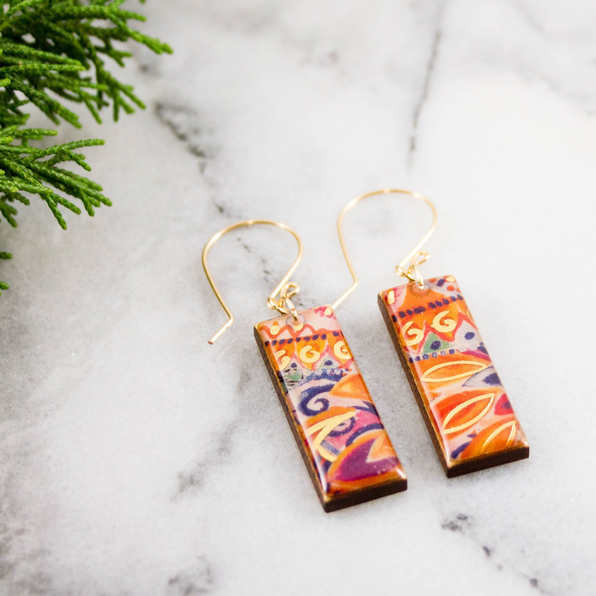 Carnivale Rectangle Earrings