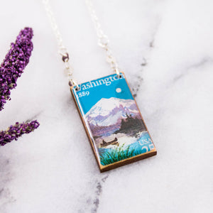 WASHINGTON- Vintage Centennial Postage Stamp Necklace
