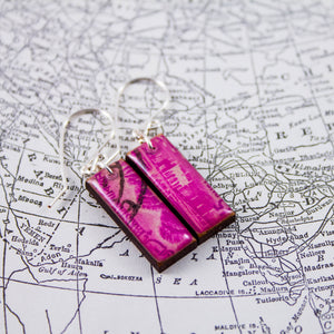 Antique Pakistan Postage Stamp Earrings