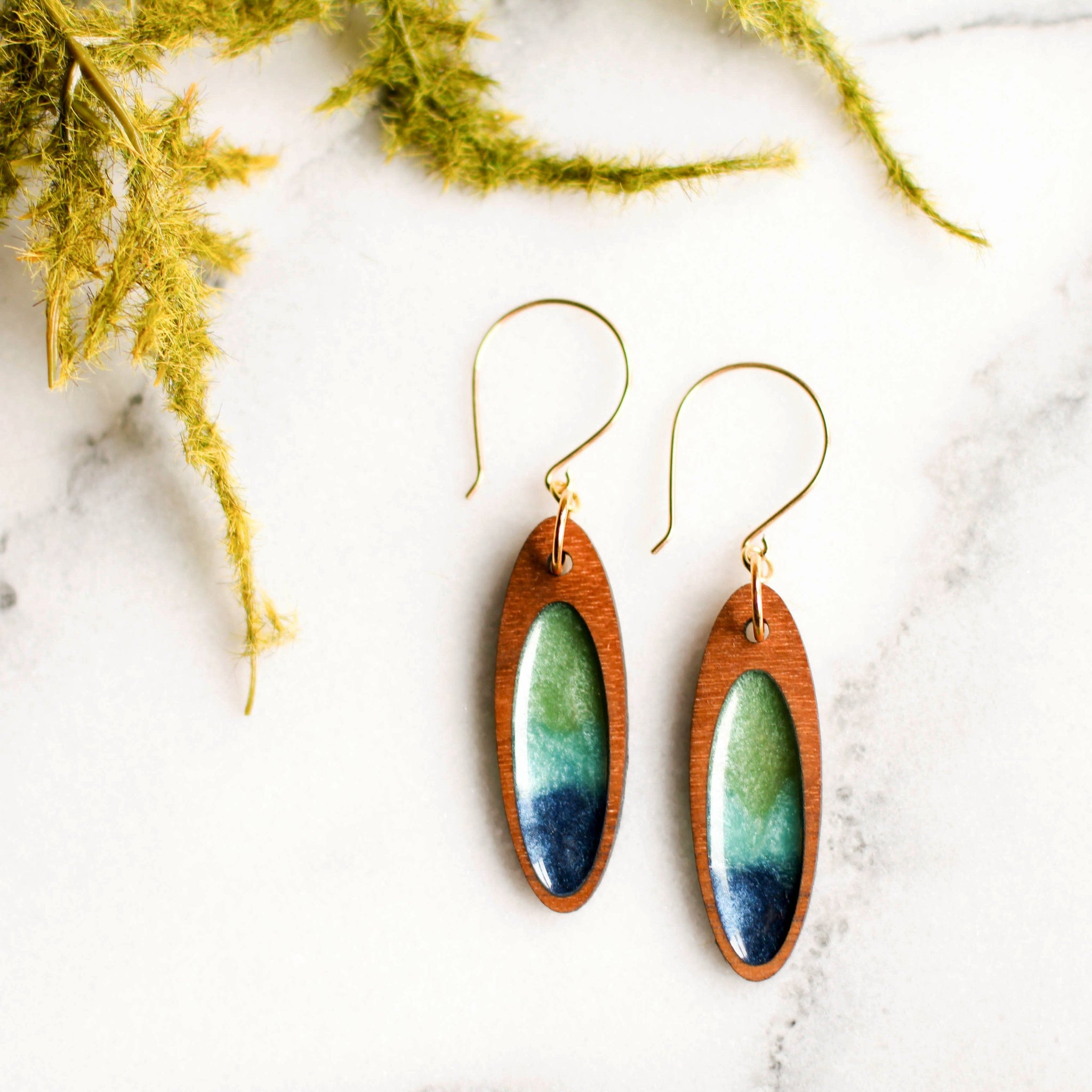 Pacific Blues Earrings - No Man's Land Artifacts