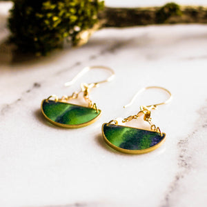 Mood Swings Brass Earrings... Aurora Borealis - No Man's Land Artifacts
