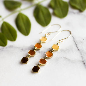 Honeycomb Dangle Earrings - No Man's Land Artifacts