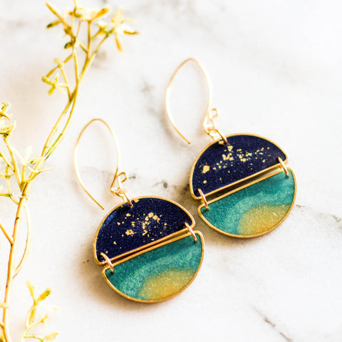 Night Swimming Earrings - No Man's Land Artifacts