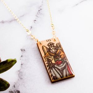Vintage Italian Tarot Empress Necklace