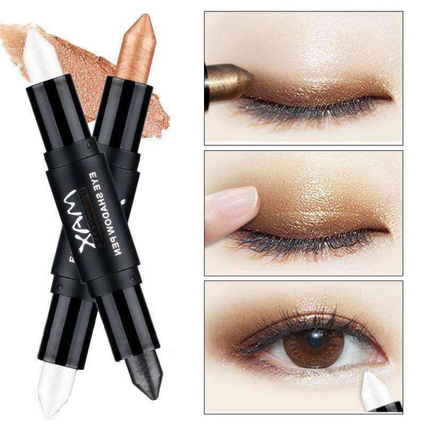 Beauty - Eyeshadow Color Pencil Makeup Waterproof Metallic White Gold Glitter