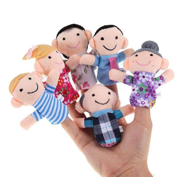 Home Goods - 6 Piece Family Finger Puppets Free Shipping