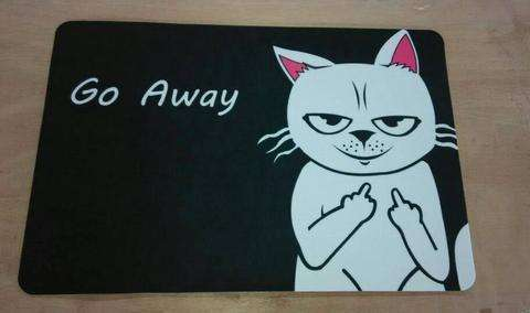 Home Goods - Go Away Cat Floor Mat
