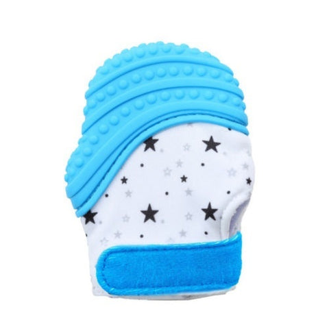 Image of Toddler Silicone Teething Pain Relief Mitt Gloves With Sound