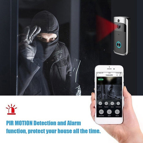 Smart Wireless WiFi Security DoorBell Video Phone Visual Recording IR