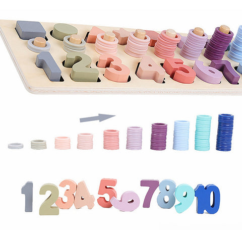 Preschool Safe Counting Geometric Shapes Toy Cognitive Early Education Teaching Aids