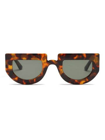 Image of Flat Top Chunky Frame Sunglasses