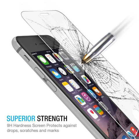 TEMPERED GLASS FOR IPONE X 8 7 6S 6 Plus 5 5S 4S SE