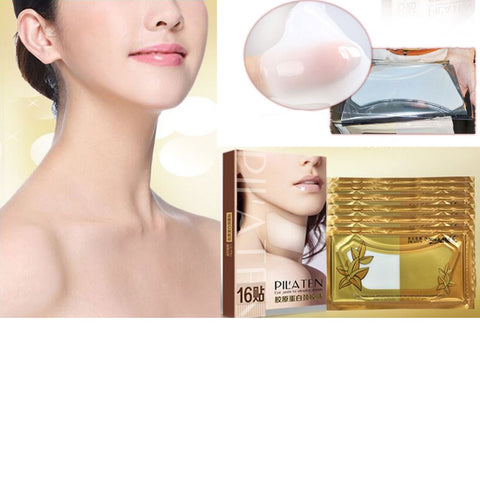 PILATEN Crystal Collagen Anti-Aging Anti-Wrinkling Moisturising Neck Mask for Women