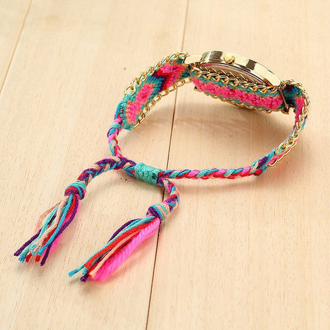 Image of Handmade Braided Dreamcatcher Bracelet Watch