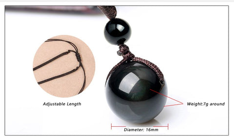 Natural Stone Obsidian Rainbow Eye