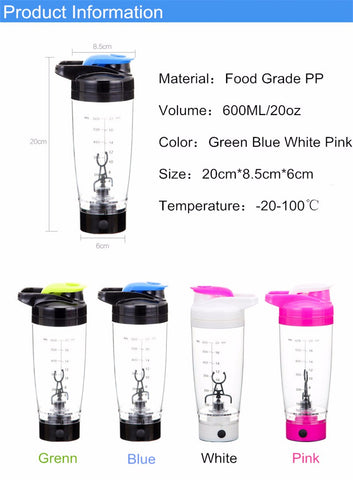 Image of AUTOMATED SHAKER PORTABLE MIXER 600 ml capacity, 16,000 rpm motor, BPA free