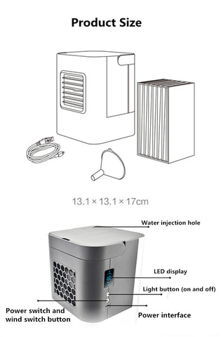 Image of Portable Personal Air Cooler Air Fan