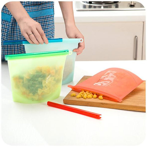 REUSABLE SILICON FRESH FOOD BAGS