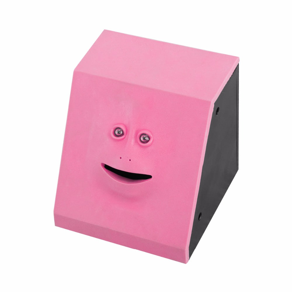 Face Money Eating Box Piggy Bank Coins