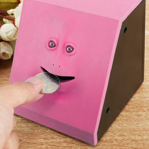 Image of Face Money Eating Box Piggy Bank Coins