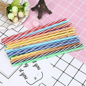 25 PCs Reusable Biodegradable Color Beverage Hard Plastic drinking Straws