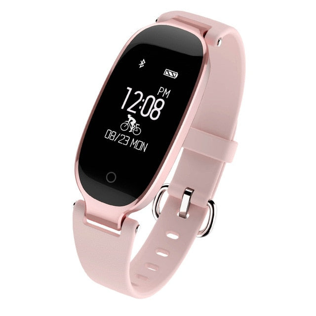 Sport Smart Ladies Watch Bracelet Band Bluetooth Heart Rate Monitor Fitness Tracker For Android IOS