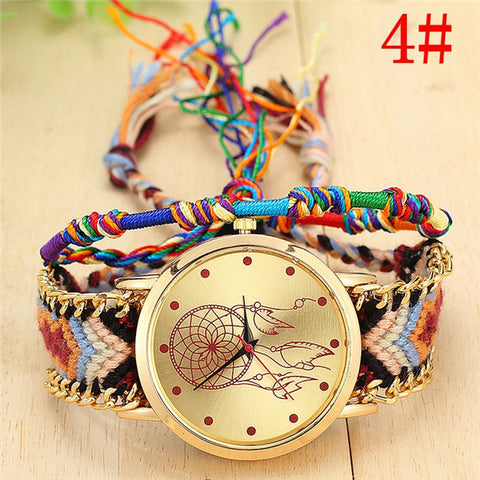 Handmade Braided Dreamcatcher Bracelet Watch