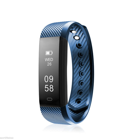Image of Smart Bracelet Fitness Tracker Heart Rate Monitor 1D115HR Bluetooth