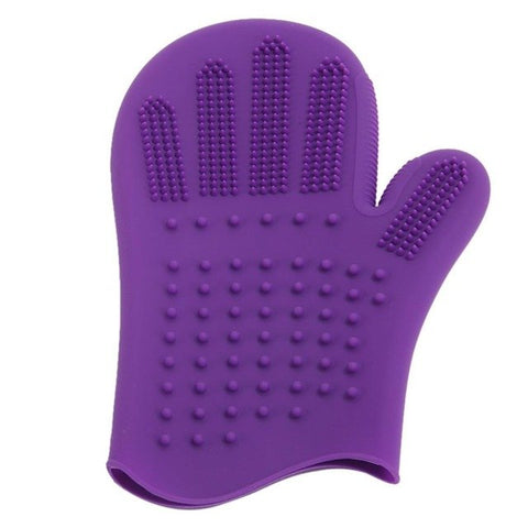 Pet Dog Cat Bath Comb Glove for Hair Fur Grooming and Massaging