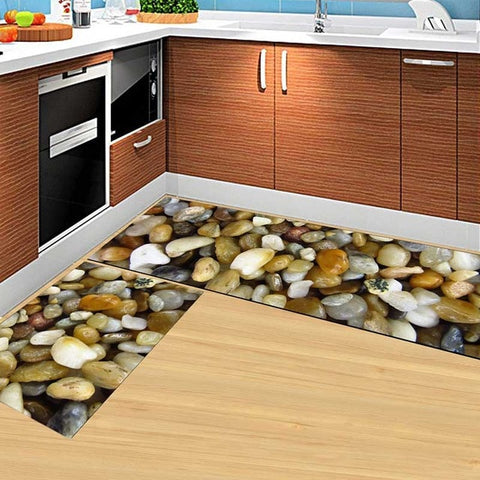 2PCS Modern Kitchen  Living Room, bathroom Hallway Anti-slip Area Rugs