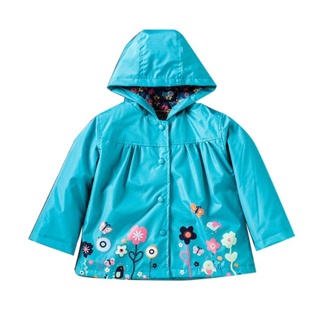 Kid Raincoat Coat Outerwear Children Clothing Spring Autumn for Girls Waterproof Padded