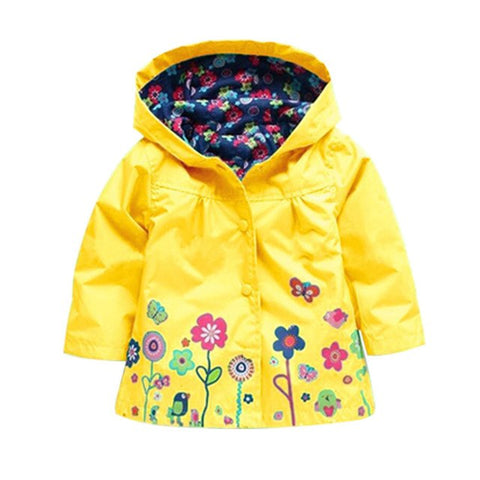 Image of Kid Raincoat Coat Outerwear Children Clothing Spring Autumn for Girls Waterproof Padded