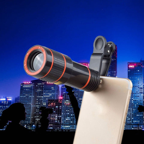 Image of Clip-on 12x Zoom Universal Mobile Phone Telescope Camera Lens HD iPhone Samsung