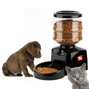 Smart Automatic Pet Food Dispenser with LCD Display Sound Recording Timer Programmable