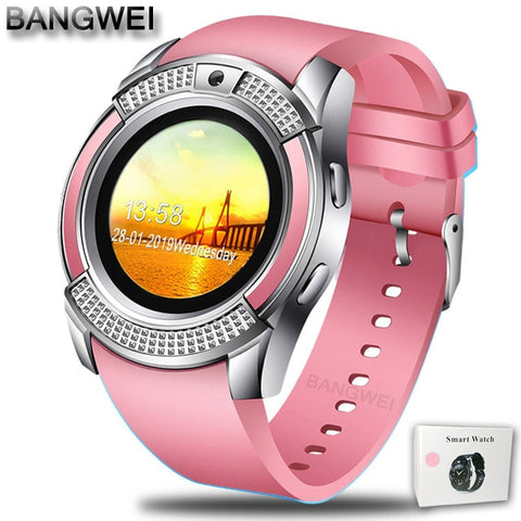 BANGWEI 2018 Ladies Smart Watch LED Color Screen Sport Pedometer Clock Android Smart Phone Watch