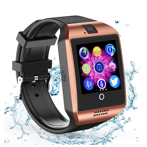 Bluetooth Smartwatch Men Touch Screen Big Battery TF Sim Card Camera for Android Phone