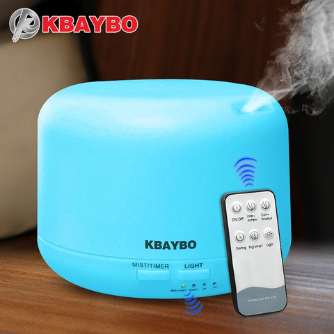Remote Control 300 ML Ultrasonic Air Humidifier With 7 Color Lights Essential Oil Aroma Diffuser
