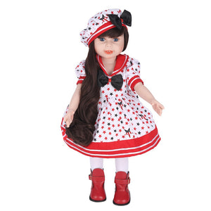 Lifelike Cute Girl Doll and Playmate Gift 18 inch