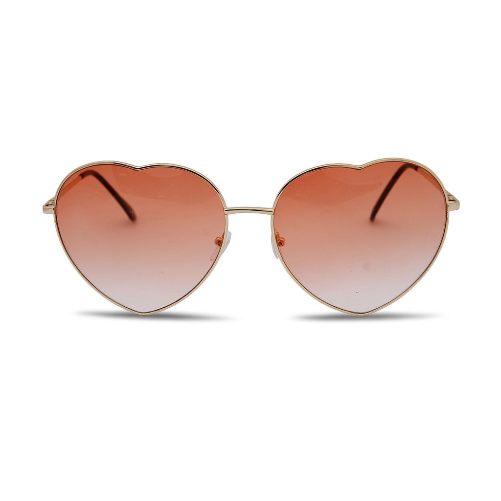 Orange Heart Frame Sunglasses