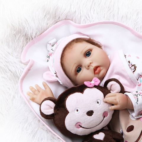 Cute Reborn Baby Girls Doll Soft Silicone Handmade Lifelike