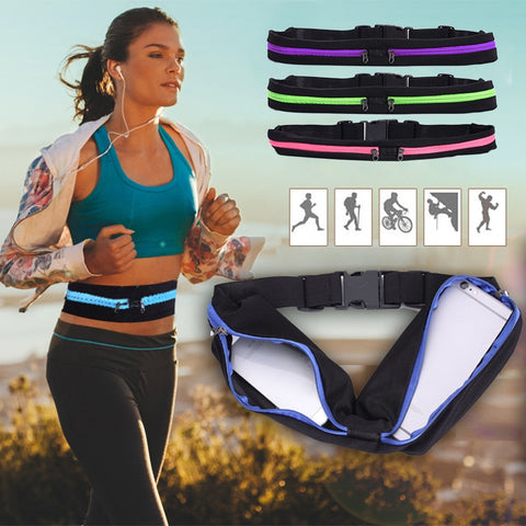 Image of Running Travel Cycling Waist Pocket Bag Waterproof Expandable iPhone,Card, Key, Money