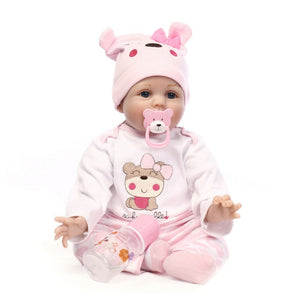 Reborn Baby Girl Doll Realistic Silicone With Soft Cloth