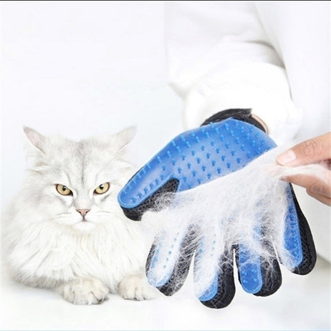 Image of Wool Glove Pet Dog Cat Brush Comb Deshedding Gentle Efficient Grooming