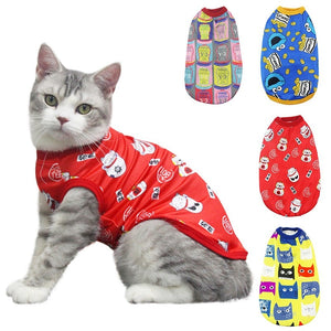 Cute Pet Small Dog Cat Shirt Breathable Vest Fashion Red Polyester