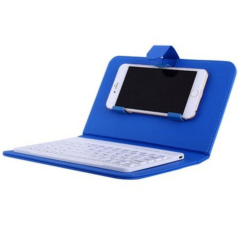 Image of Wireless Keyboard in Leather Case for iPhone With Bluetooth